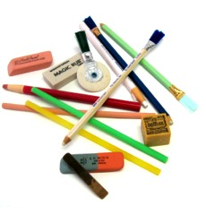 eraser sticks, machine erasers, pencil erasers, hand held block eraser